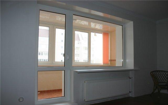 """Балконный блок(дверь+окно) """"под ключ"""" в саранске."""
